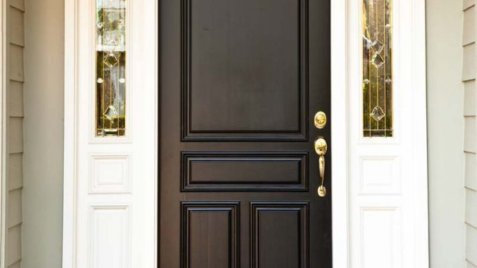 exterior door to paint or are going to repaint an existing door the. Black Bedroom Furniture Sets. Home Design Ideas