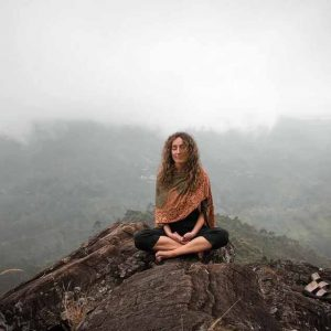 Picture of a woman meditating
